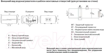 Накопительный водонагреватель Haier ES55H-H1 (R)