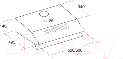 Вытяжка плоская Cata P 600 (Inox 3260)