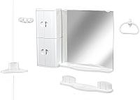 Комплект мебели для ванной Белпласт Элегант c502-2830 (белый) -