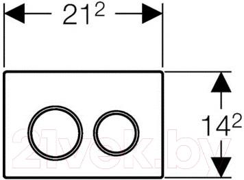 Кнопка для инсталляции Geberit Omega 20 (115.085.KH.1) - схема