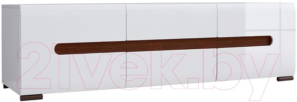 Купить Тумба Black Red White, Azteca S205-RTV2D2S/4/15 (белый/белый блеск), Беларусь