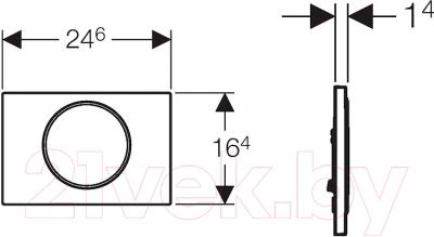 Кнопка для инсталляции Geberit Sigma 10 New (115.758.KJ.5) - схема