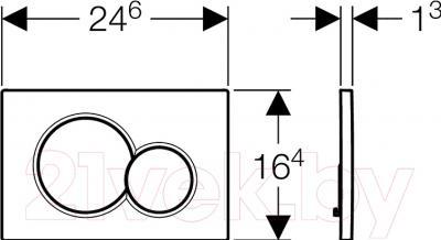 Кнопка для инсталляции Geberit Sigma 01 115.770.46.5 - схема