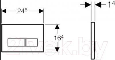 Кнопка для инсталляции Geberit Sigma 50 New 115.788.SD.5 - схема