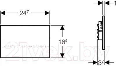 Кнопка для инсталляции Geberit Sigma 80 116.090.SG.1 - схема