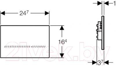 Кнопка для инсталляции Geberit Sigma 80 116.090.SM.1 - схема