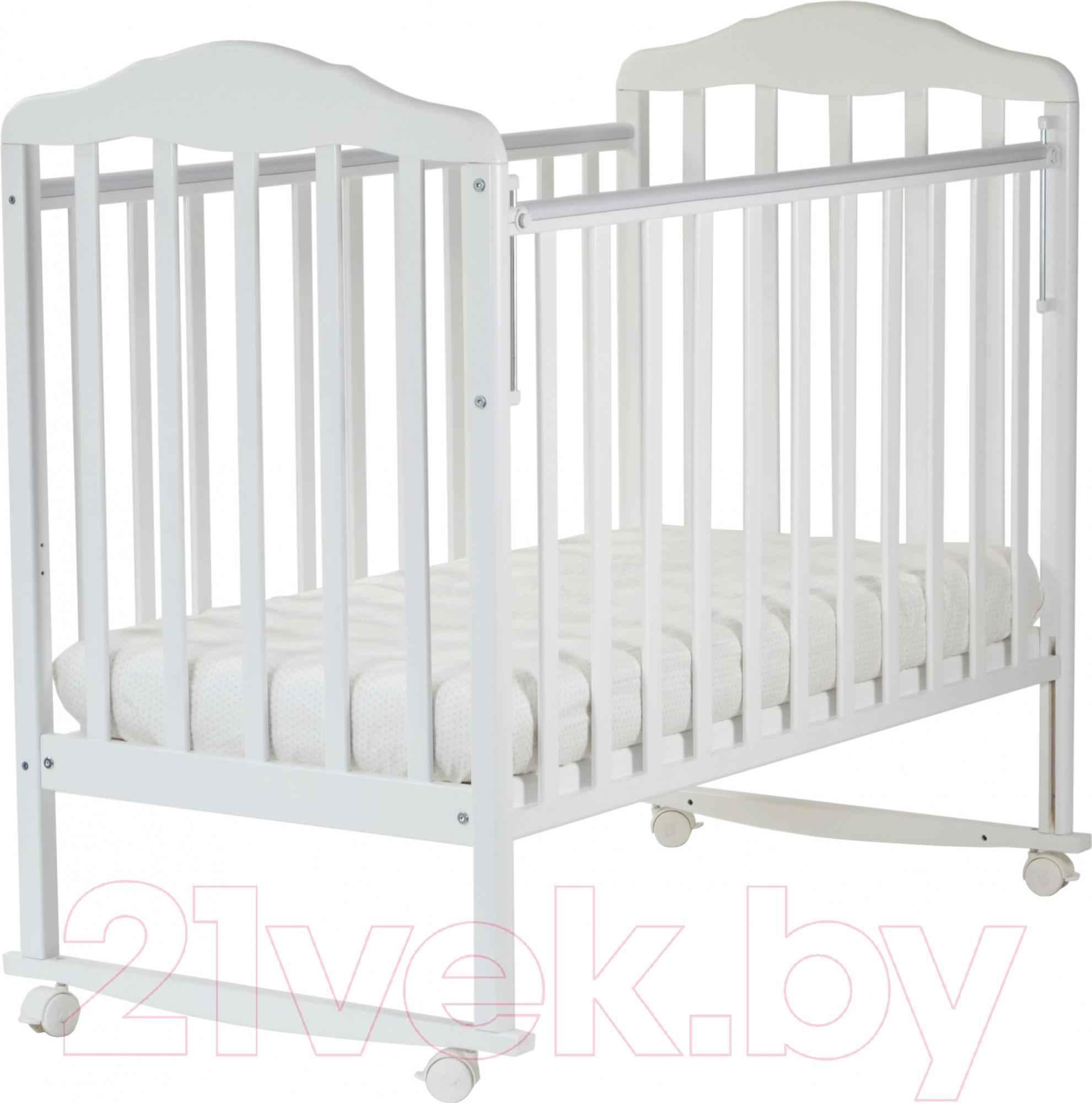 Купить Детская кроватка СКВ, Березка 120111 (белый), Россия, массив дерева