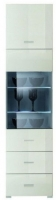 Шкаф-пенал с витриной Black Red White Jang S92-REG1W1D2S-19-5 (белый блеск) -