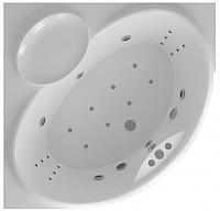 Ванна акриловая Aquatek Эпсилон 150x150 (с гидромассажем и экраном) -