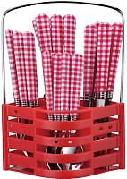 Набор столовых приборов Peterhof PH-22118 (красный) -