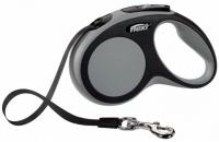 Поводок-рулетка Flexi New Comfort M 5m (ремень серый) -
