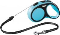 Поводок-рулетка Flexi New Comfort S 5m (трос синий) -