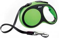 Поводок-рулетка Flexi New Comfort XS 3m (ремень зеленый) -