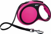 Поводок-рулетка Flexi New Comfort XS 3m (ремень розовый) -