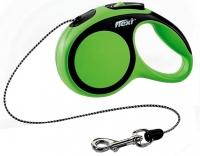 Поводок-рулетка Flexi New Comfort XS 3m (трос зеленый) -