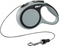 Поводок-рулетка Flexi New Comfort XS 3m (трос серый) -