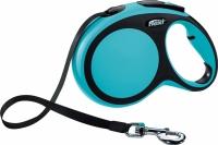 Поводок-рулетка Flexi New Comfort S 5m (ремень синий) -