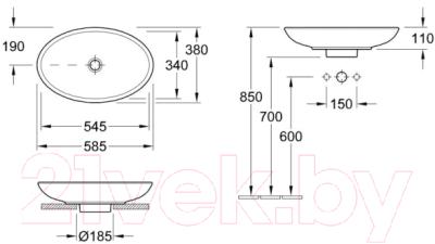 Умывальник Villeroy & Boch Loop & Friends 58x38 (5151 0001)