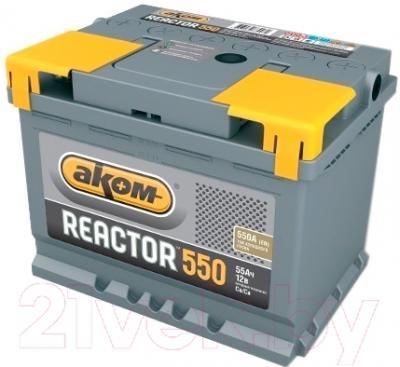 Автомобильный аккумулятор AKOM Реактор 6СТ-55 Евро / 555020009 (55 А/ч)