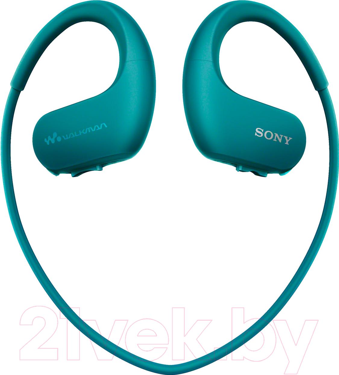Купить Наушники-плеер Sony, NW-WS414L (голубой), Китай