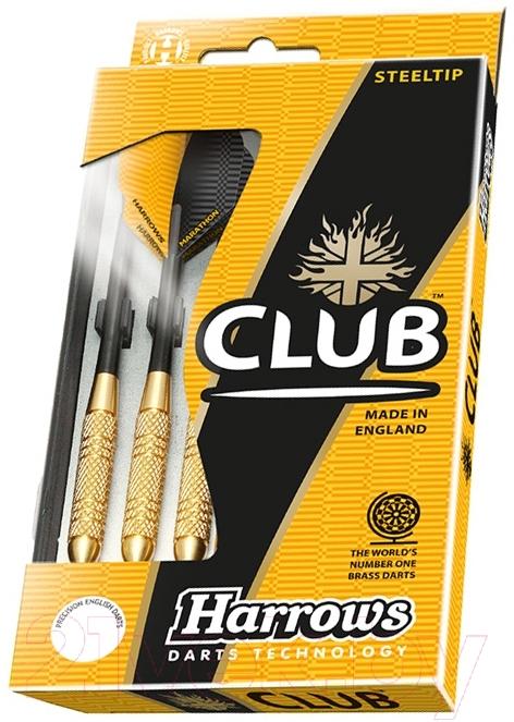 Дротики для дартса Harrows, Club Brass 3x22gR / 5598, Великобритания  - купить со скидкой