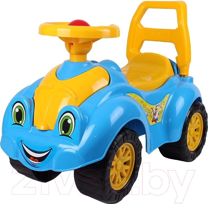 Купить Каталка детская ТехноК, Автомобиль для прогулок 3510, Украина, желтый, пластик