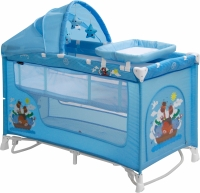 Кровать-манеж Lorelli Nanny 2 Rocker + (Blue Adventure) -