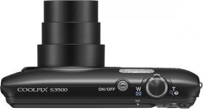 Компактный фотоаппарат Nikon Coolpix S3500 Black - общий вид