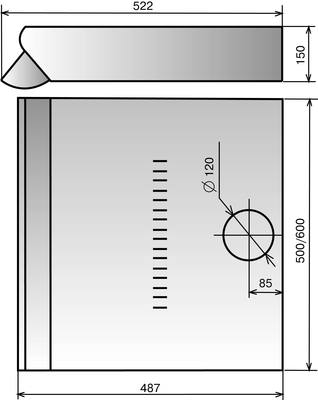 Вытяжка плоская Elikor Davoline 60П-290-П3Л (белый) - схема