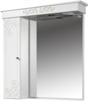 Шкаф с зеркалом для ванной Bliss Амелия 3 / 0455.11 (патина серебро) -