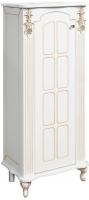 Шкаф-полупенал для ванной Bliss Версаль 1Д / 0454.2-01 (патина золото) -