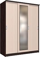 Шкаф Интерлиния Неаполь АН-012-17-01 (дуб венге/дуб молочный) -