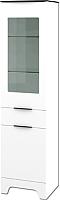 Шкаф-пенал с витриной Мебель-Неман Верона МН-128-07 (белый глянец) -