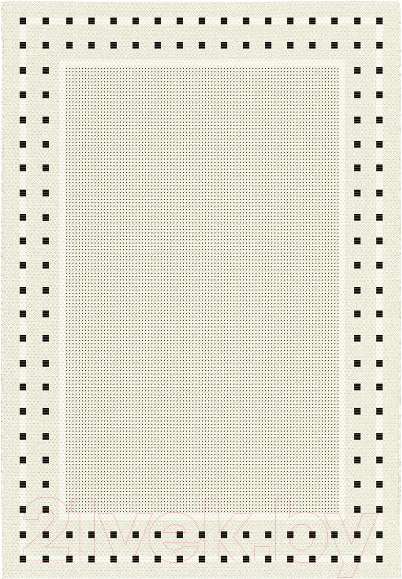 Купить Циновка Balta, Fondo 4840/060 (80x150, белый/черный), Бельгия