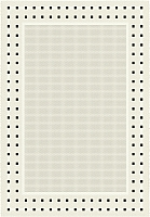Циновка Balta Fondo 4840/060 (80x200, белый/черный) -