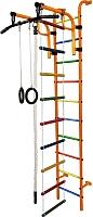 Детский спортивный комплекс Формула здоровья Аистенок-1А Плюс (оранжевый/радуга) -