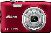 Компактный фотоаппарат Nikon Coolpix A100 (красный) -