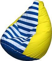 Бескаркасное кресло Flagman Груша Мини Г0.1-0717 (желтый/полосатый) -