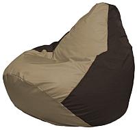 Бескаркасное кресло Flagman Груша Мини Г0.1-93 (темно-бежевый/коричневый) -
