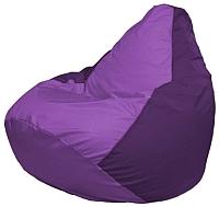 Бескаркасное кресло Flagman Груша Мини Г0.1-102 (сиреневый/фиолетовый) -