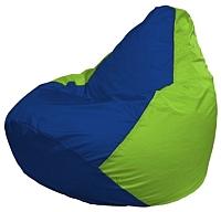 Бескаркасное кресло Flagman Груша Мини Г0.1-119 (синий/салатовый) -