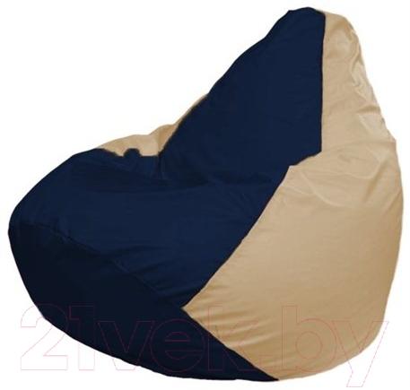 Купить Бескаркасное кресло Flagman, Груша Макси Г2.1-42 (темно-синий/светло-бежевый), Беларусь, оксфорд