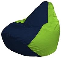 Бескаркасное кресло Flagman Груша Макси Г2.1-43 (темно-синий/салатовый) -