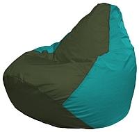 Бескаркасное кресло Flagman Груша Макси Г2.1-58 (темно-оливковый/бирюзовый) -