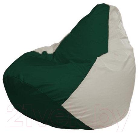 Купить Бескаркасное кресло Flagman, Груша Макси Г2.1-76 (темно-зеленый, белый), Беларусь, оксфорд