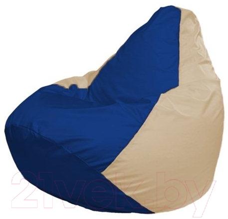 Купить Бескаркасное кресло Flagman, Груша Макси Г2.1-121 (синий/светло-бежевый), Беларусь, оксфорд
