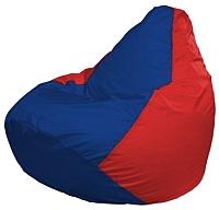 Бескаркасное кресло Flagman Груша Макси Г2.1-122 (синий/красный) -