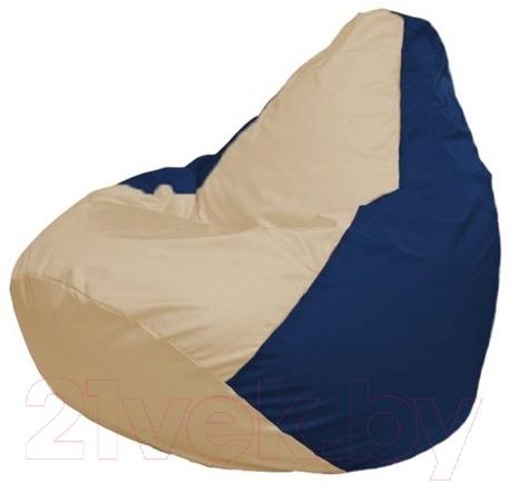 Купить Бескаркасное кресло Flagman, Груша Макси Г2.1-133 (светло-бежевый/темно-синий), Беларусь, оксфорд