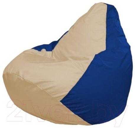 Купить Бескаркасное кресло Flagman, Груша Макси Г2.1-139 (светло-бежевый/синий), Беларусь, оксфорд