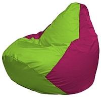 Бескаркасное кресло Flagman Груша Макси Г2.1-154 (салатовый/фуксия) -